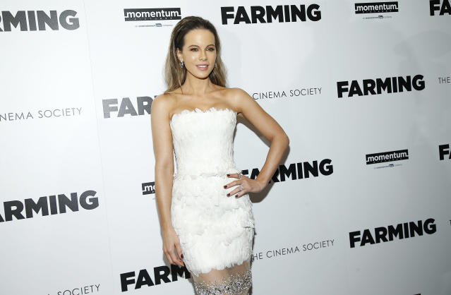 "Kate Beckinsale attends ""Farming"" New York Screening at Village East Cinema on October 22, 2019 in New York City. (Photo by John Lamparski/WireImage)"