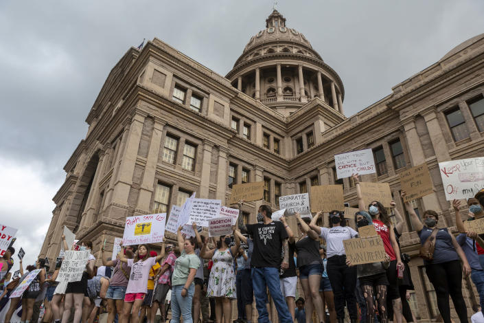 Image: Abortion rights supporters rally at the Texas State Capitol (Stephen Spillman / AP)