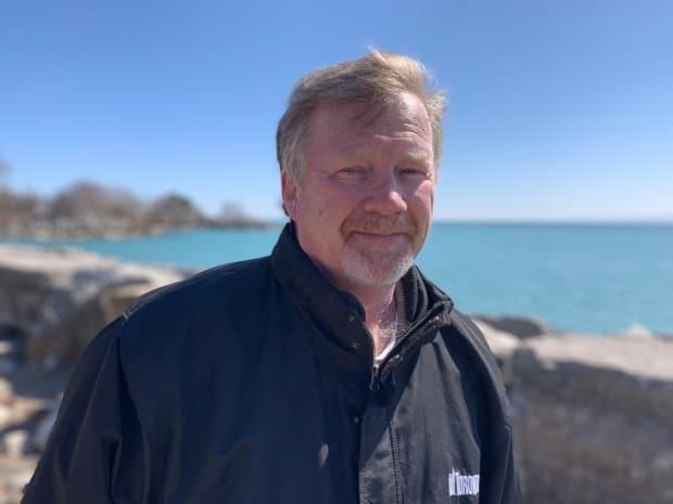 Coun. Gary Crawford, shown here near the edge of Lake Ontario, says: 'I have halted installation of the fence at Scarborough Heights Park. I am meeting with City staff on Monday and will be holding a community stakeholder meeting in the next days to provide information, the opportunity for discussion and options.'