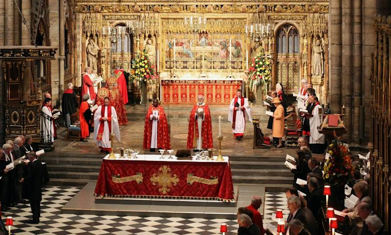 Queen Elizabeth at the inauguration of the 2010 General Synod of the Church of England