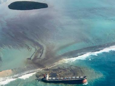 Stricken Japanese ship behind devastating Mauritius oil spill successfully sunk in open ocean