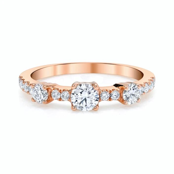 "$4075, Anita Ko. <a href=""https://www.anitako.com/collections/rings-new/products/diamond-collins-rings"" rel=""nofollow noopener"" target=""_blank"" data-ylk=""slk:Get it now!"" class=""link rapid-noclick-resp"">Get it now!</a>"