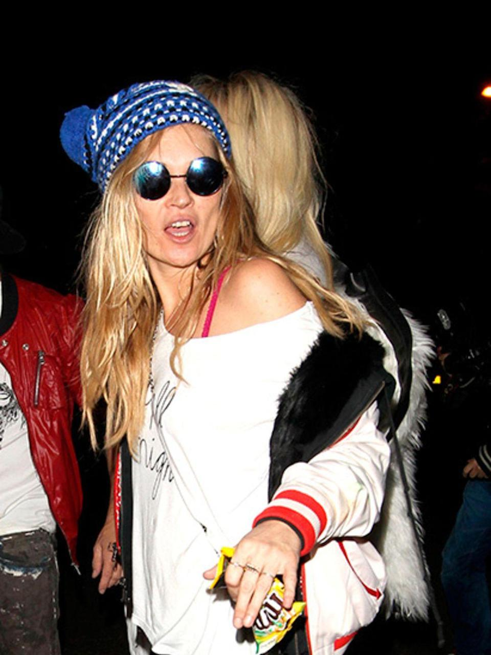 <p>Kate Moss attends Jonathan Ross' Halloween party as Cara Delevingne, October 2014.</p>