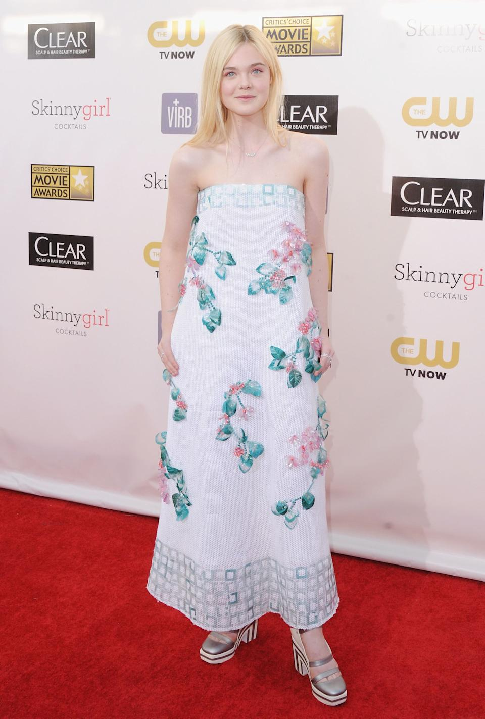 Fanning at the 18th Annual Critics' Choice Movie Awards at Barker Hangar in Santa Monica, California.