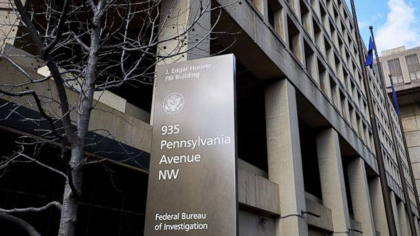 PHOTO: A sign stands outside the Federal Bureau of Investigation (FBI) headquarters in Washington, D.C., Feb. 2, 2018.  (T.J. Kirkpatrick/Bloomberg via Getty Images)