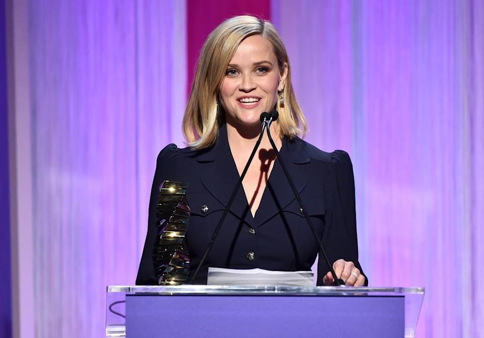 Reese Witherspoon on stage during The Hollywood Reporter's Power 100 Women in Entertainment. (Photo by Alberto E. Rodriguez/Getty Images for The Hollywood Reporter)