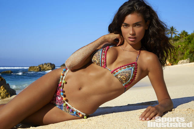 <p>Kelly Gale was photographed by James Macari in Sumba Island. Swimsuit by LA ISLA.</p>