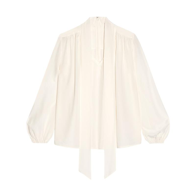 """<a rel=""""nofollow"""" href=""""http://rstyle.me/n/b3hf85jduw"""">Pussy-Bow Silk Crepe De Chine Blouse, CO, $675</a>"""