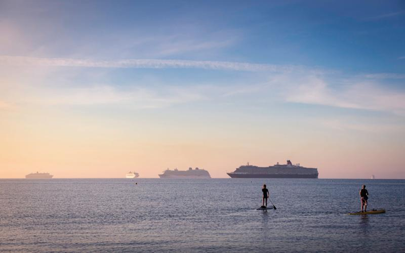 Cruise ships have been moored up since the beginning of the pandemic