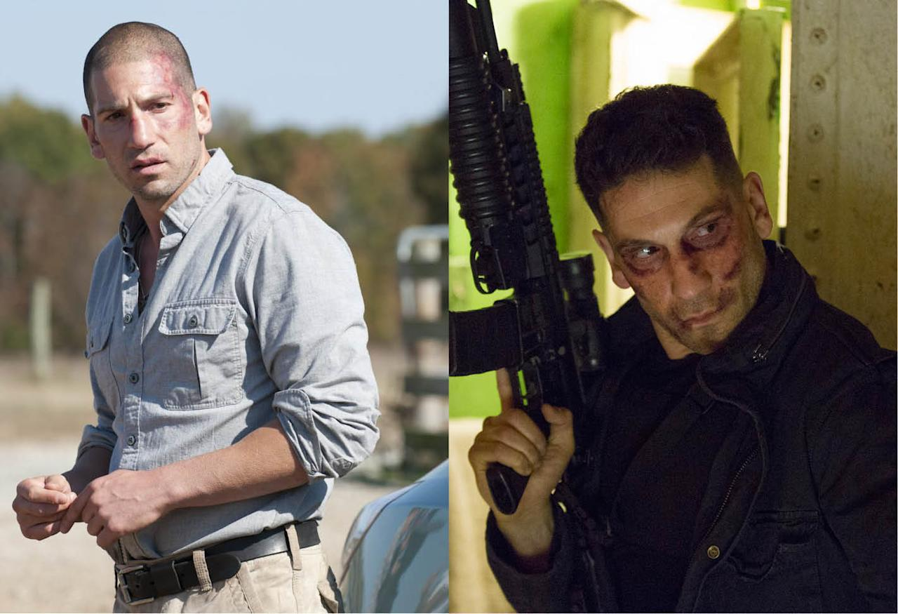 <p>Bernthal earned positive notice for his brooding, dark performance as former deputy Shane Walsh, and took that to bigger roles. First, he reunited with Frank Darabont and Jeffrey DeMunn in <em>Mob City,</em> then he won the role of the villain the Punisher in Netflix and <em>Marvel's Daredevil</em>. He'll step into the spotlight when <em>The Punisher</em> gets his own series.<br /><br />(Photo: AMC/Netflix) </p>