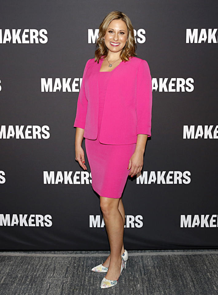 LOS ANGELES, CALIFORNIA - FEBRUARY 11: Katie Hill attends The 2020 MAKERS Conference on February 11, 2020 in Los Angeles, California. (Photo by Rachel Murray/Getty Images for MAKERS)
