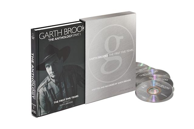 <p>This is being marketed as a 240-page hardcover book that examines the first five years of the country music king's career, with plenty of previously unseen photos, but it's packaged with five CDs of material released during that period, as well as loads of previously unreleased tunes. For the Garth faithful or those looking to dive into his career from the beginning. (Photo: Pearl Records) </p>