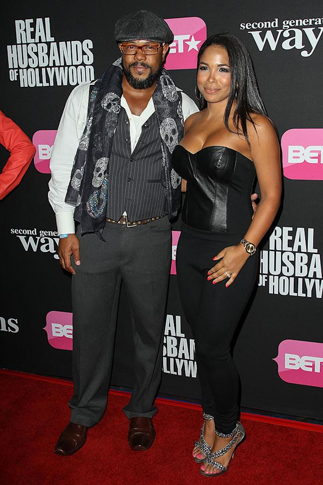 "Rockmond Dunbar and Maya Gilbert arrive at the screenings of BET Networks' ""Real Husbands of Hollywood"" and ""Second Generation Wayans"" held at the Regal Cinemas L.A. Live on January 8, 2013 in Los Angeles, California."