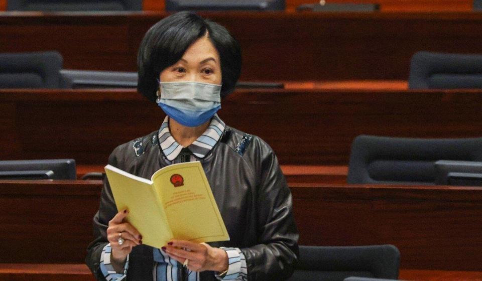 Regina Ip, chairwoman of the New People's Party. Photo: May Tse