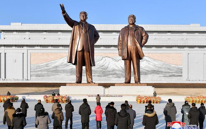 New year celebrations in Pyongyang. North Korea officially has no coronavirus cases - REUTERS