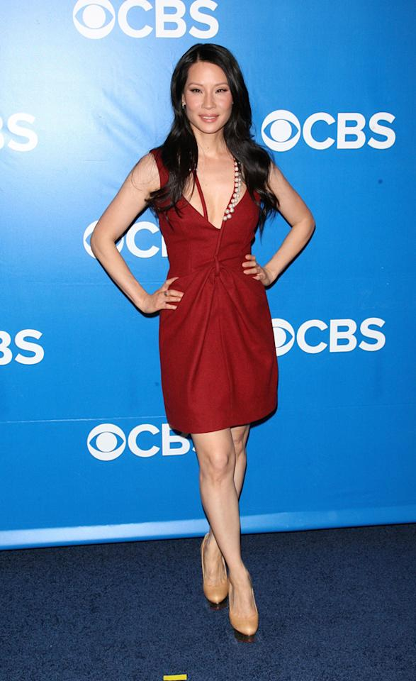 "Lucy Liu (""Elementary"") attends CBS's 2012 Upfront Presentation on May 16, 2012 in New York City."
