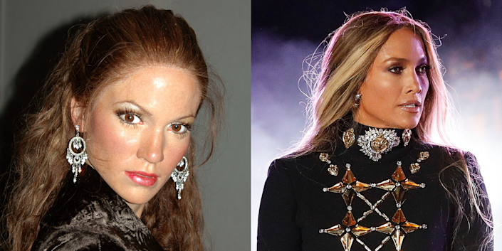 <p>While I appreciate the fact that Wax J.Lo looks like it's about to fight a woman who got too flirty with A-Rod, this wouldn't look like Jenny from the block even if you squinted at it while drunk. Cute earrings, though. </p>