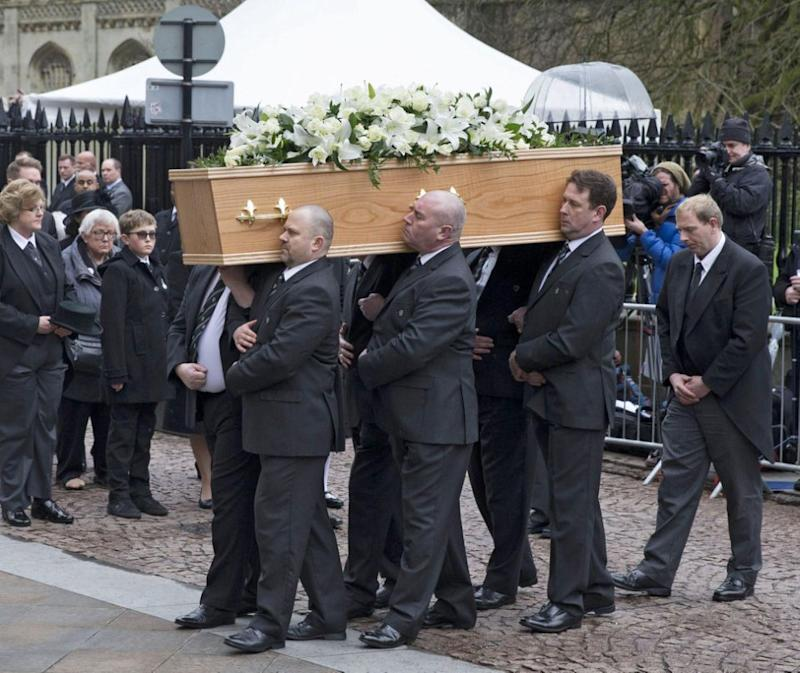 He was farewelled at a funeral service in Cambridge. Photo: AAP