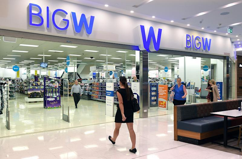 Photo shows a woman walking into a Big W store. Source: AAP