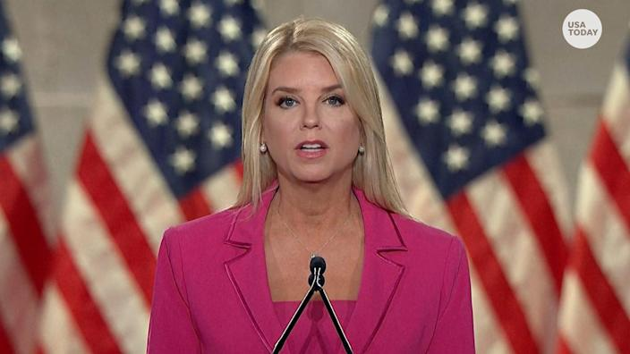 Pam Bondi, former Florida Attorney General, accused President Trump's opponent of nepotism, with Biden's son Hunter and Ukraine as an example.