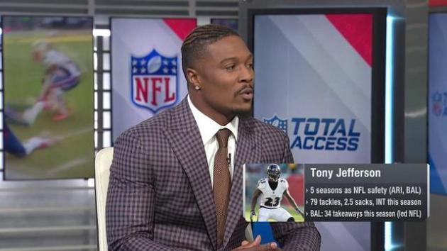 <p>Baltimore Ravens Safety Tony Jefferson on how the Jacksonville Jaguars can stop New England Patriots Tight End Rob Gronkowski: 'Put (Linebacker) Myles Jack on him'</p>