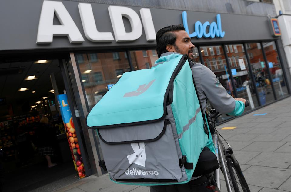 Groceries now account for 10% of all Deliveroo's UK business. Photo: Toby Melville/Reuters