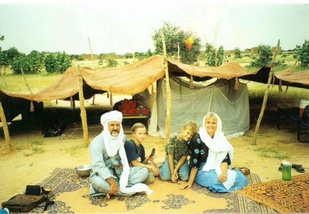 PHOTO: Jeffery Woodke and his family are pictured in Africa in an undated handout photo. (Woodke Family)