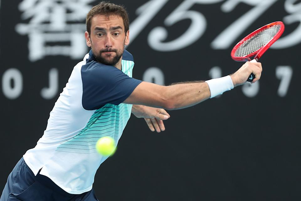 Croatia's Marin Cilic during the 2021 Australian Open.