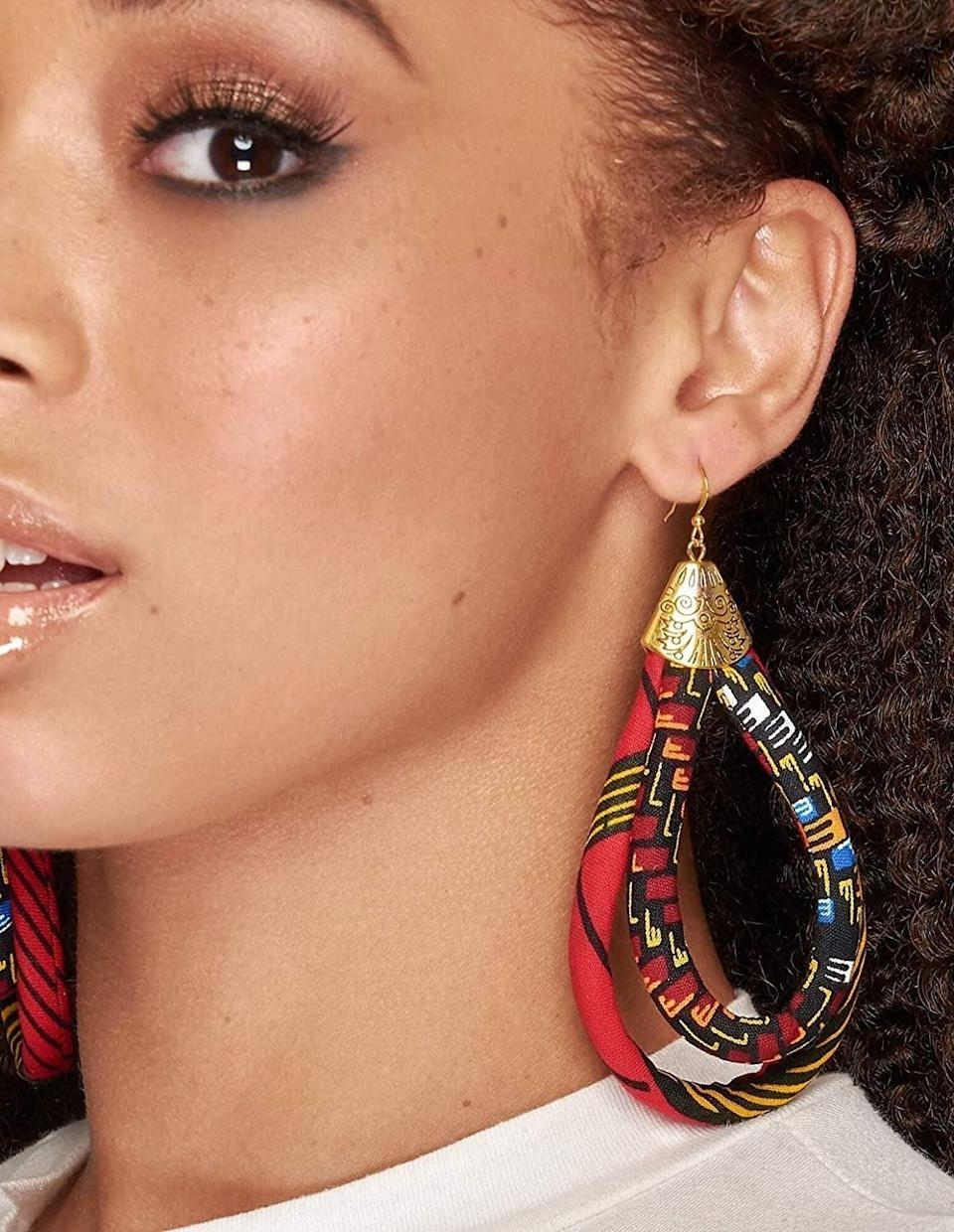 <p>These <span>Cloth &amp; Cord Store Ankara African Earrings</span> ($29) make a statement!</p>