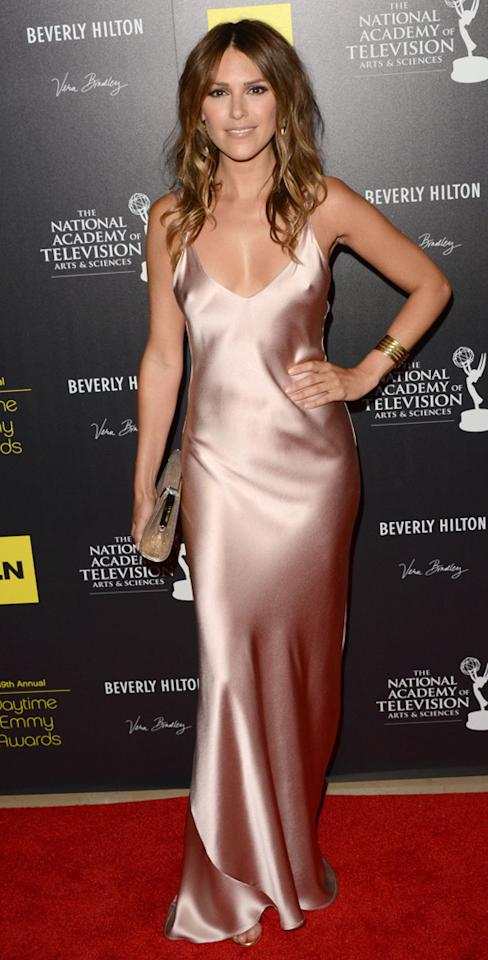 Elizabeth Hendrickson arrives at The 39th Annual Daytime Emmy Awards held at The Beverly Hilton Hotel on June 23, 2012 in Beverly Hills, California.