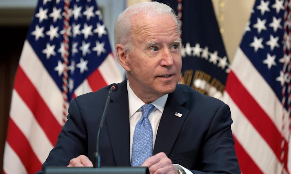 Joe Biden during an event with business leaders in Washington.