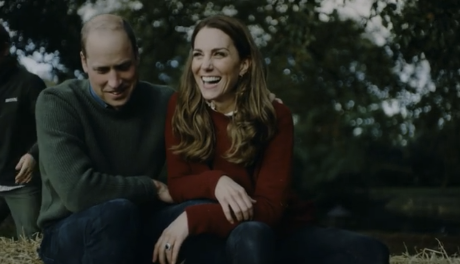 William and Kate snuggle up together