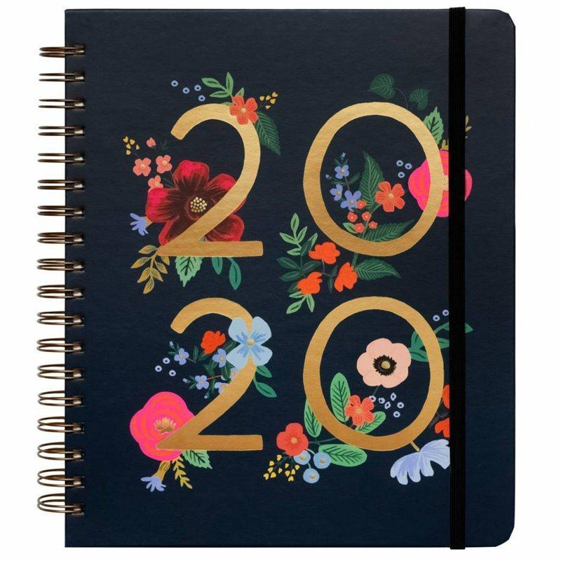 Rifle Paper Co. 2019-2020 17-Month Spiral Planner Wildrose