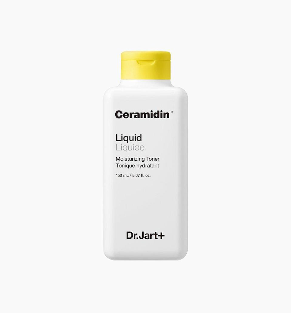 """<p>Can a toner really be moisturizing? The <a href=""""https://www.allure.com/gallery/best-of-beauty-skin-care-product-winners?mbid=synd_yahoo_rss"""" rel=""""nofollow noopener"""" target=""""_blank"""" data-ylk=""""slk:2019 Best of Beauty"""" class=""""link rapid-noclick-resp"""">2019 Best of Beauty</a> winner Dr. Jart+ Ceramidin Liquid answers that question and more. Thanks to a formula full of <a href=""""https://www.allure.com/story/what-are-ceramides?mbid=synd_yahoo_rss"""" rel=""""nofollow noopener"""" target=""""_blank"""" data-ylk=""""slk:ceramides"""" class=""""link rapid-noclick-resp"""">ceramides</a>, an ingredient that helps restore any lost moisture, skin is left feeling soft and supple after every use.</p> <p><strong>$39</strong> (<a href=""""https://shop-links.co/1718691272592075408"""" rel=""""nofollow noopener"""" target=""""_blank"""" data-ylk=""""slk:Shop Now"""" class=""""link rapid-noclick-resp"""">Shop Now</a>)</p>"""