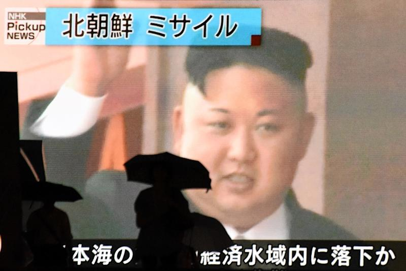 There was blancket coverage of the launch of the ICBM in Japan, which considers itself a target for North Korea (AFP Photo/Kazuhiro NOGI)