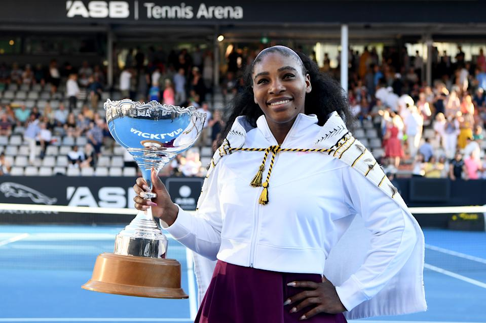 Serena Williams ended her title drought Sunday. (Photo by Hannah Peters/Getty Images)