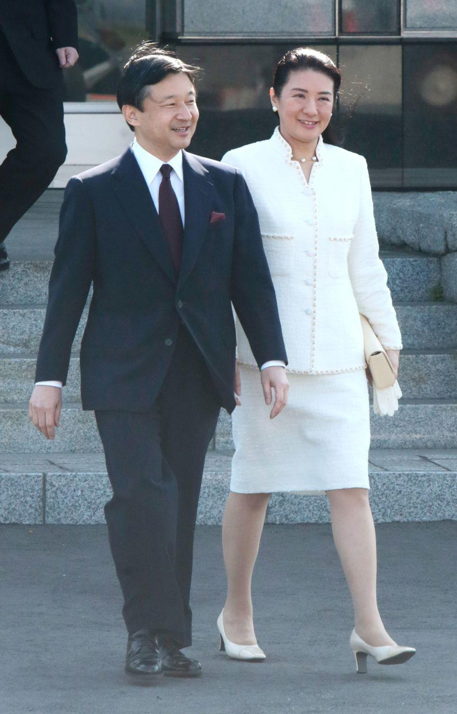 <p>Before she became Crown Princess of Japan, she was a Harvard graduate who went on to pursue a diplomatic career, which led her to Crown Prince Naruhito. He courted her for years, and she finally accepted on the third proposal. The couple, who wed in 1993, are set to become emperor and empress of Japan in 2019. </p>