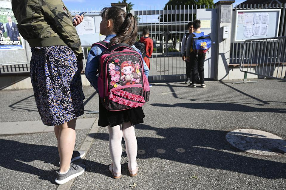 (photo d'illustration prise devant une école de Strasbourg le 22 juin 2020) (Photo: FREDERICK FLORIN via AFP via Getty Images)
