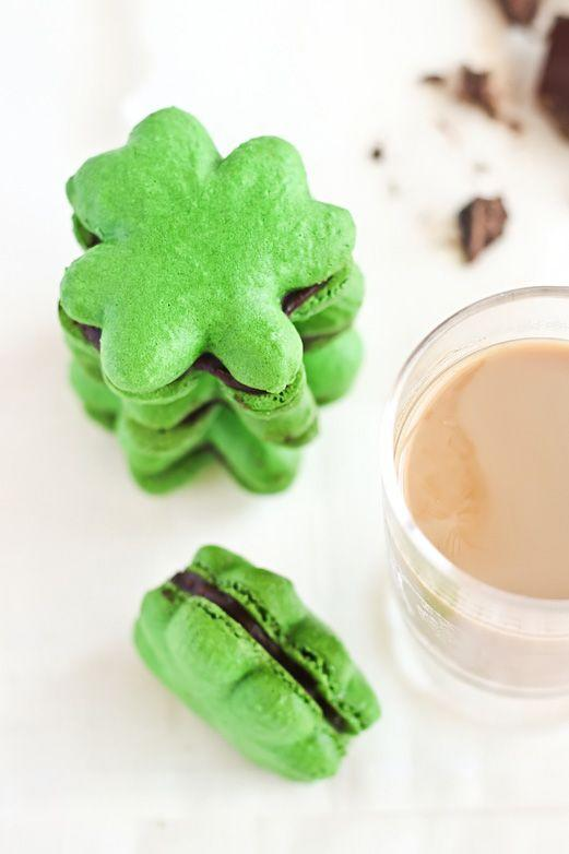 """<p>You better believe there's Bailey's chocolate ganache in these sandwich cookies. </p><p><a href=""""http://www.raspberricupcakes.com/2012/03/shamrock-macarons-with-baileys.html"""" rel=""""nofollow noopener"""" target=""""_blank"""" data-ylk=""""slk:Get the recipe from Raspberri Cupcakes »"""" class=""""link rapid-noclick-resp""""><em>Get the recipe from Raspberri Cupcakes »</em></a><br></p>"""