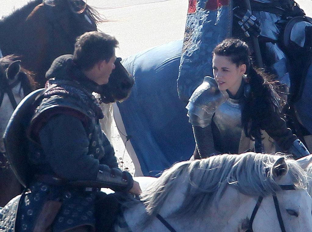 "<a href=""http://movies.yahoo.com/movie/contributor/1807776250"">Kristen Stewart</a> on the set of their new film ""Snow White and the Huntsman"" in Wales."