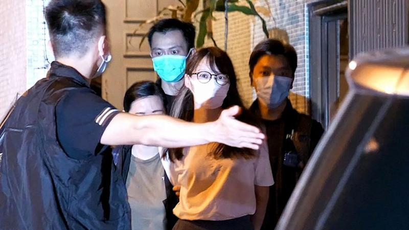 Agnes Chow was arrested earlier this week