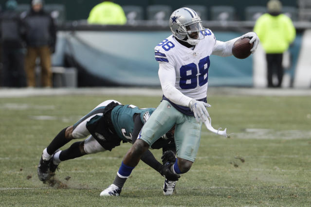 Dallas Cowboys receiver Dez Bryant in action against the Philadelphia Eagles last season. (AP)