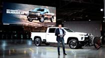 General Motors Co. President Mark Reuss introduces the Chevrolet 2020 Silverado HD pickup truck at the GM Flint Assembly Plant in Flint, Michigan, U.S. February 5, 2019. REUTERS/Rebecca Cook