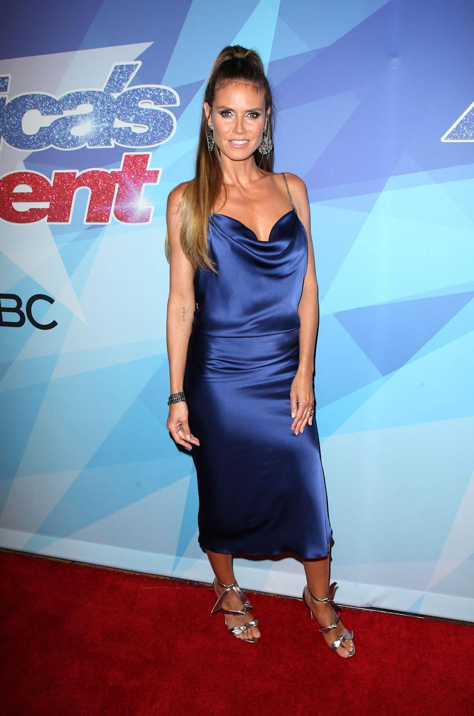 The supermodel showed off the finished look on the 'America's Got Talent' red carpet. [Photo: Getty]