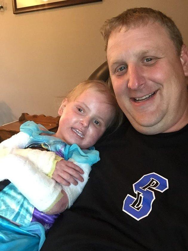 Brent Gehring with his daughter Emma.