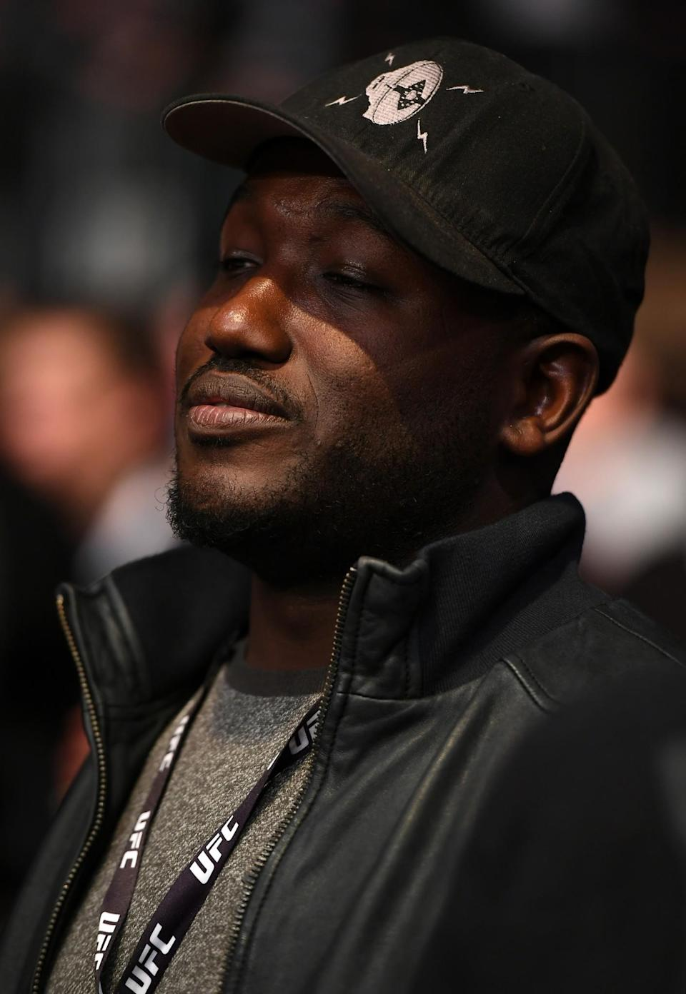 <p>Comedian Hannibal Buress watches the middleweight bout between Chris Weidman of the United States and Yoel Romero of CubYoel Romero of Cubaduring the UFC 205 event at Madison Square Garden on November 12, 2016 in New York City. (Photo by Jeff Bottari/Zuffa LLC/Zuffa LLC via Getty Images) </p>