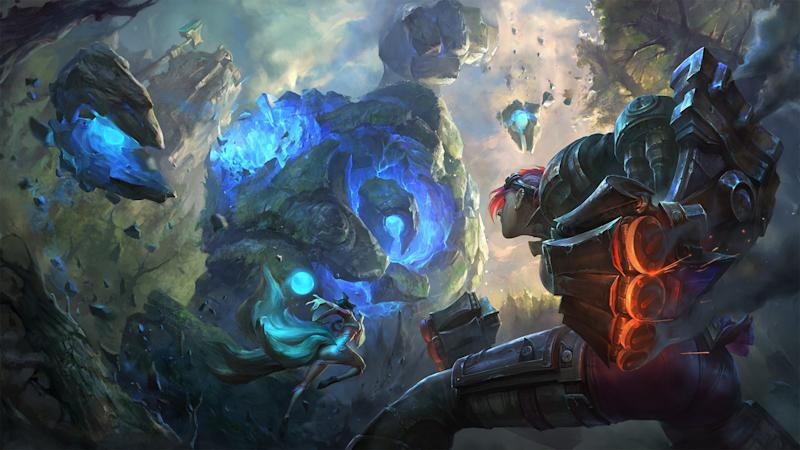 Promotional art for League of Legends.
