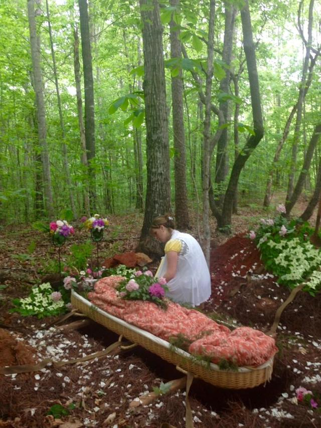 A burial at Larkspur Conservation. (Photo: Larkspurconservation.org)