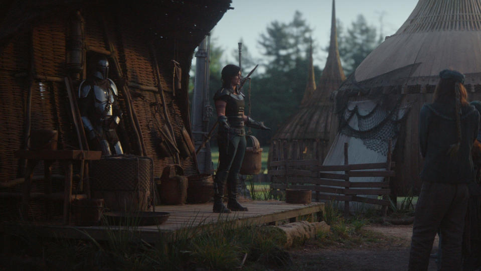 Episode four of 'The Mandalorian' takes place on the forest planet of Sorgan. (Credit: Disney+)