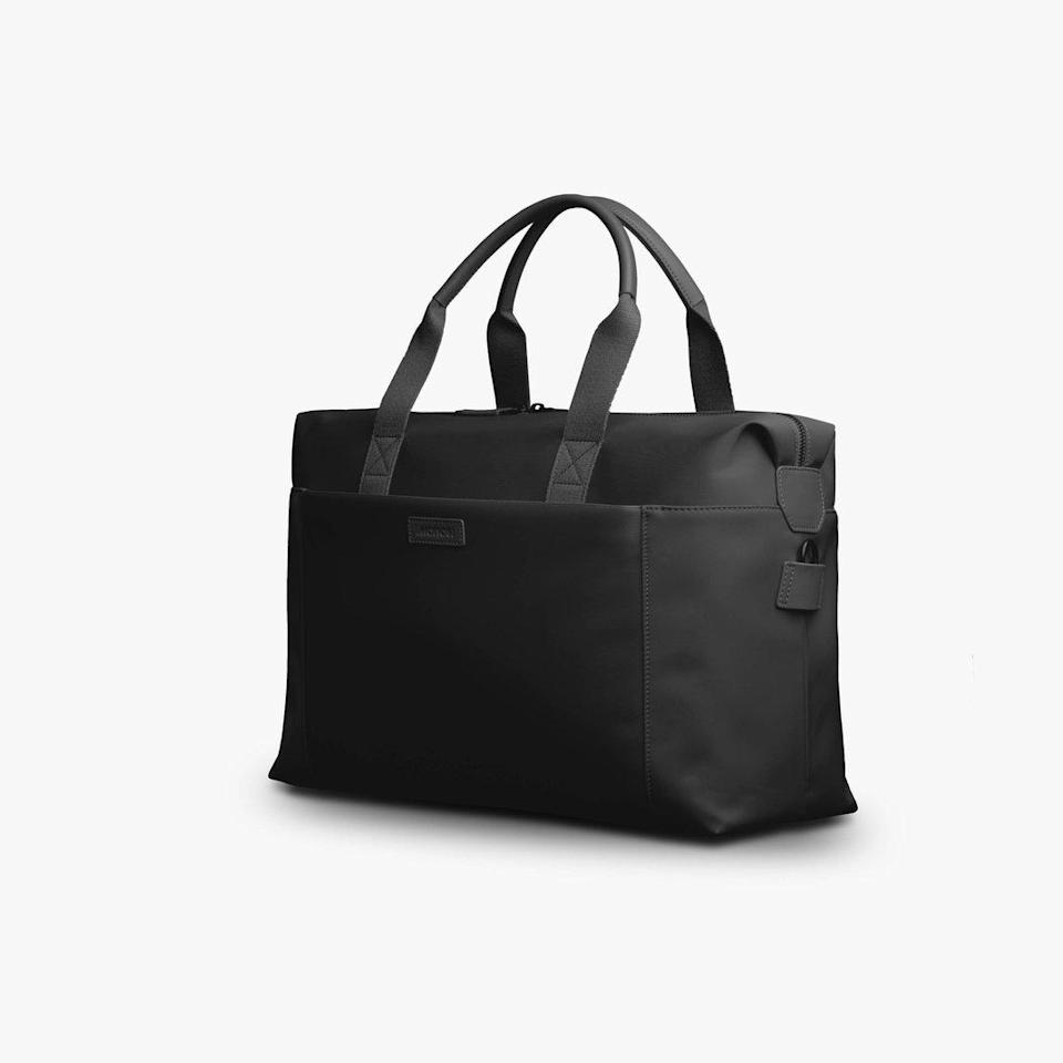 """<p>A classic black bag is always a winner. Metro Duffel's nylon and vegan leather bags are perfect for everyday use — they're roomy, lightweight and easy to organize — but also great to for your pal to have on hand when she can hit the road (or sea, or sky, or basically anywhere other than our homes) again with her favorite travel companion: you!</p> <p><b>Buy It! </b>Originally $225, on sale for $169, <a href=""""https://monos.com/products/metro-duffel?variant=32568039669834"""" rel=""""nofollow noopener"""" target=""""_blank"""" data-ylk=""""slk:monos.com"""" class=""""link rapid-noclick-resp"""">monos.com</a> </p>"""